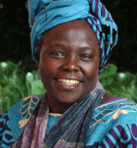 Wangari Maathai, founder of the Green Belt Movement. Photo credit: Martin Rowe