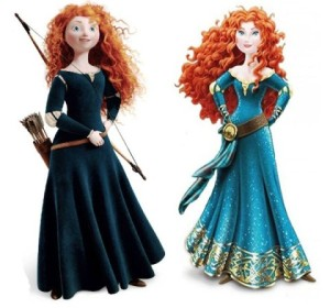 Merida Before and After the Disney Princess Makeover. Image Source: Inside the Magic