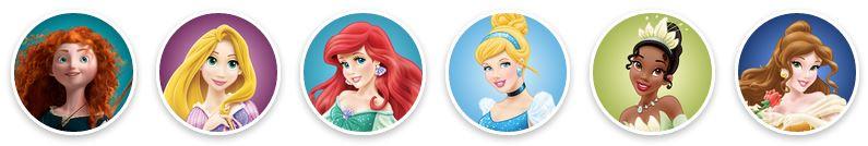 Princesses from princess.disney.com