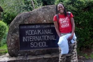 Modesta at Kodaikanal International School in India