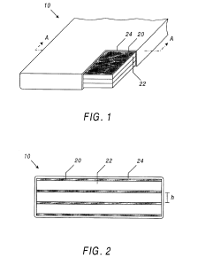 """Two figures from Eric L. Christiansen and Jeanne L. Crews' patent for a """"flexible multi-shock shield."""" (United States Patent and Trademark Office online database)"""