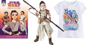 The Force Awakens In Her:   Rey-Themed Books, Toys, Clothing, and Decor