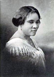 Sarah Breedlove, known as Madam C.J. Walker