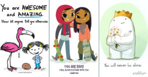 Artwork of Hope, Love, & Support from   the Children's Book World