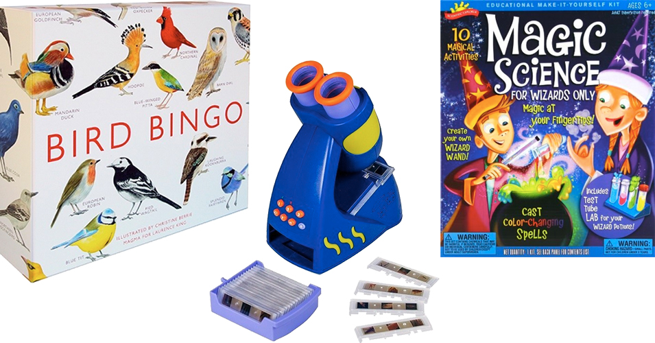 Wrapped Up In Science:   Top 60 Science Toys for Mighty Girls