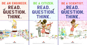 "Free ""Read Question Think"" Posters for Kids"