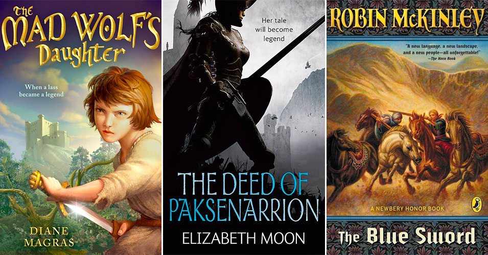 Mighty Girls To The Rescue:   18 Books Starring Sword-Wielding Girls and Women