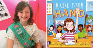 "11-Year-Old Encourages Girls to ""Raise Your Hand!"" With New Girl Scouts Patch and Picture Book"