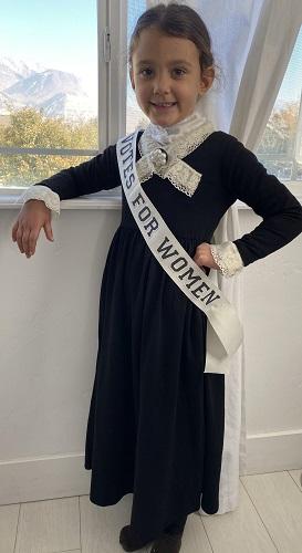 Navy as Susan B. Anthony