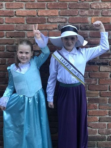 A suffragist and Eliza Schuyler Hamilton
