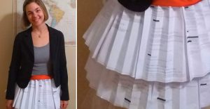 Grad Student Defends Her Dissertation in Skirt Made From Rejection Letters to 'Normalize Failure'