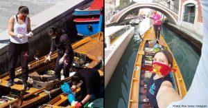 Female Gondola Rowers in Venice Deliver Groceries to Elderly During Coronavirus Lockdown